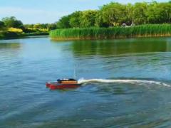水质监测无人船航速快,续航能力强,适合湿地湖泊大面积水质监测